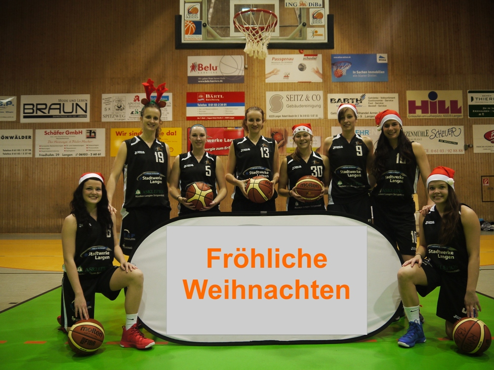 Die Rhein-Main Baskets wünschen allen ihren Partner, Helfern, Freunden und Fans ein frohes Weihnachtsfest  (Foto Schönwälder)
