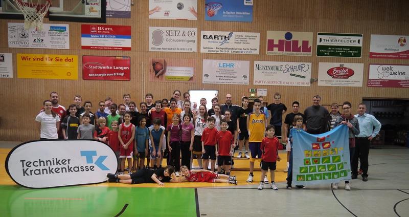 Basketball-Camp mit Ernährungsberatung der TK