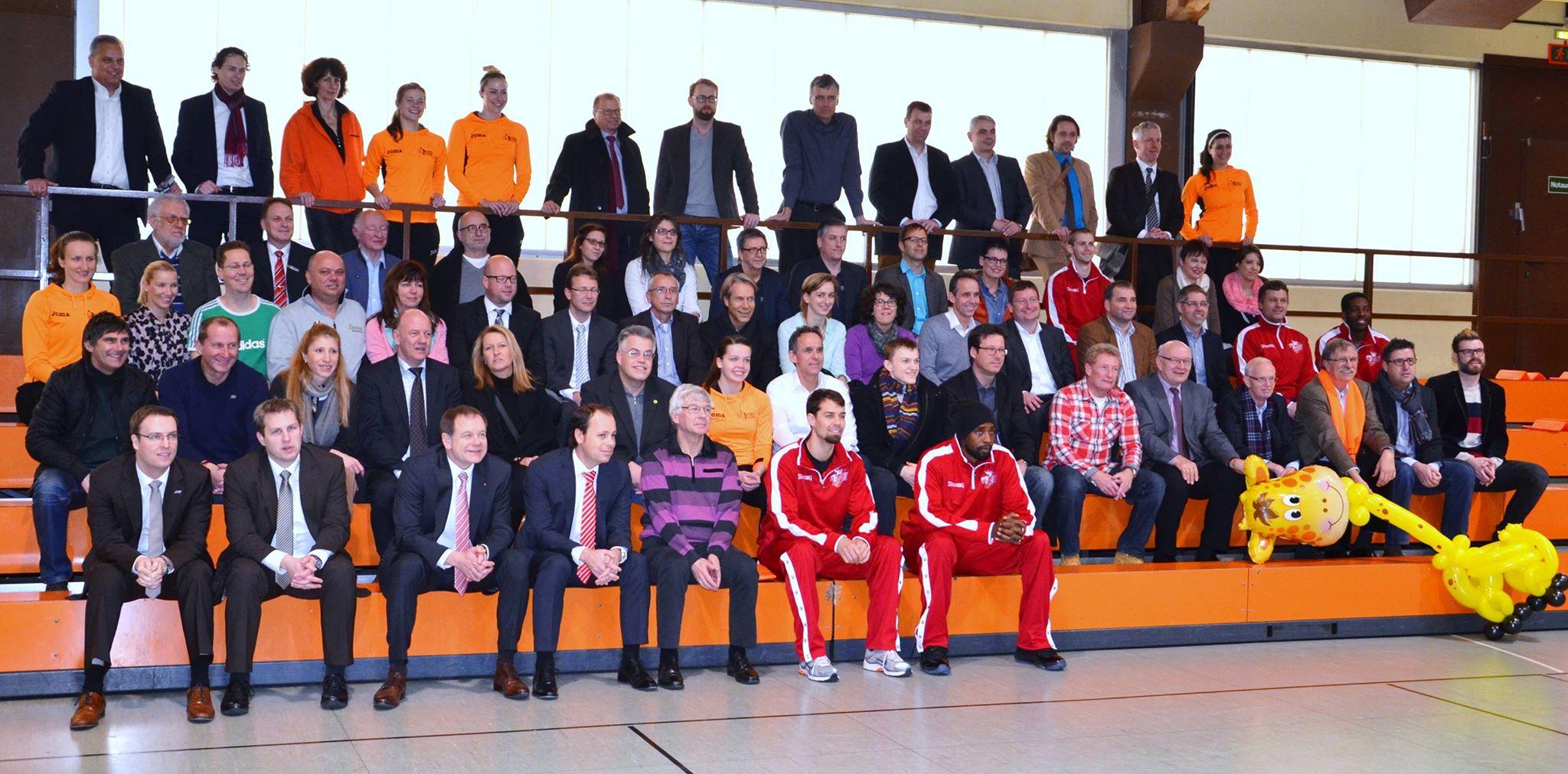 Gäste beim Neujahrsempfang der Langener Basketballer